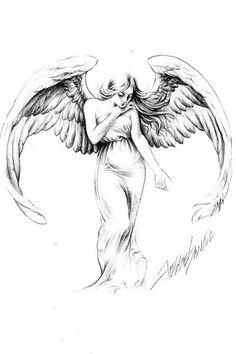 Jesse Santos - Book of angels Kunst Tattoos, Body Art Tattoos, Sleeve Tattoos, Foot Tattoos, Skull Tattoos, Flower Tattoos, Tattoo Sketches, Tattoo Drawings, Art Sketches