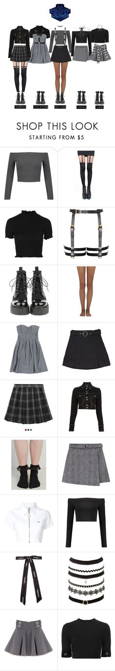 """""""IDEAL - FINGERTIP Debut Stage"""" by official-ideal ❤ liked on Polyvore featuring WithChic, Pretty Polly, Topshop, Wolford, Balmain, UNIF, Boohoo, Chanel, Charlotte Russe and Thierry Mugler"""