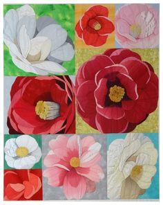 Naomi Horikita flower quilt 2014.  Photo by Le grenier de Mamounette. Sainte Marie aus Mines quilt show.