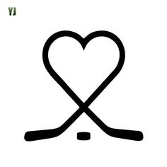 14*13CM Playful Reflective Snow And Ice Skiing Car Stickers Hockey Stick Hockey Sticker Decals CT-785