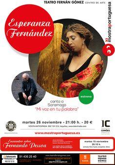 """Esperanza Fernández en el Teatro Fernán Gómez de Madrid. """"Mi voz en tu palabra"""""""