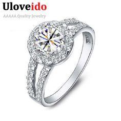 15% di sconto moda anelli di nozze d'argento placcato regali per le donne anello charms arcobaleno mystic bigiotteria gioielli vintage uloveido j510