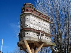 John Looser builds the most amazing birdhouses, inspired by Victorian architecture. His bird mansions are praised by bird lovers everywhere Large Bird Houses, Bird Houses Painted, Bird Houses Diy, Fairy Houses, French Country Cottage, Victorian Architecture, House 2, House Painting, The Incredibles