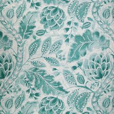 Home Decor GH Rainwater Blues Decorator Fabrics - Blue Paisley - Upholstery Fabric - Accent Window Fashions LLC #Blue #Paisley #Aqua #Teal #Blue #Green #Decorator_Fabric #New #Summer_2014 #Fabric #NewFabric #Home_Decor #Interior_Design