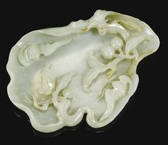 A PALE CELADON JADE WASHER<br>QING DYNASTY, LATE QIANLONG PERIOD | Lot | Sotheby's