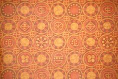 1970's Retro Wallpaper  Vintage Orange Brown and by RetroWallpaper