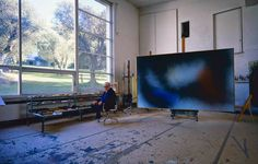 Hans Hartung Studio.  I love this space with those amazing windows!