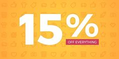 15% off everything Run Time: July 18th  July 23rd 2017 Coupon Code: 15OFF717