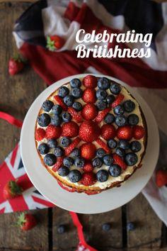 Celebrating British food and Culture: Britannia sandwich cake - Best of British British Cake, British Sweets, British Party, British Dishes, Best Of British, Sandwich Cake, Sandwiches, Jack Food, English Food