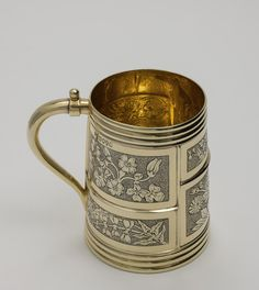 Victorian Mug in the Aesthetic style by HUNT & ROSKELL, LONDON, 1880