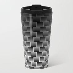 Steps Geometric Pattern travel mug by textart