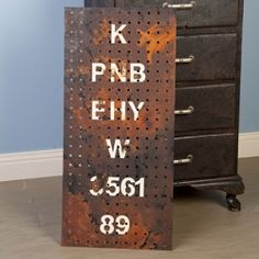 Create this awesome industrial artwork from a peg board! Make for K's room and hang things on it.