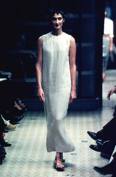 Hermes SS 1999 Mark Martin, Dress Skirt, Runway, Spring Summer, Linen Cloth 15b60da6ea7