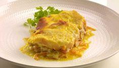 Bilde av Ovnsbakt klippfisk med hvit saus oppskrift. Lasagna, Ethnic Recipes, Cod, Lasagne