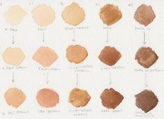 Mixing skin tones with watercolour