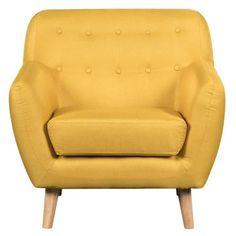 Dimensions :L.89 cm X l.78 cm X H.86.5 cm. Fauteuil capitonné scandinave VIKY en tissu bleu est un des meilleurs choix si vous cherchez un meuble élégant au design intemporel scandinave. Un look à la fois vintage et contemporain en fait le fauteuil t