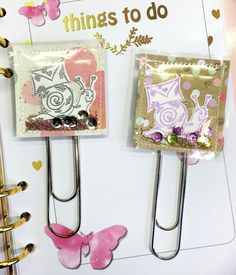Handmade Paperclips for Planner ....
