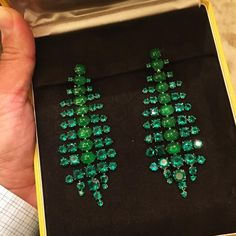 #TB to a spectacular pair of SABBA Jade and Emerald Ear Pendants #SABBAJewels #FDGallery_SOLD