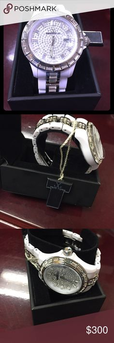 Brand new gemstones white watch Italian brand toywatch with germstones Accessories Watches