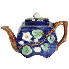 1stdibs.com   English Majolica Teapot SATURDAY SALE