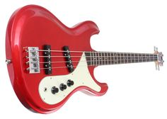 This is the Aria DMB-380 Electric Bass in a great looking Candy Apple Red finish. The DMB-380 is crafted from a carved Alder body, a bolt-on Maple neck with a Rosewood fingerboard, and is loaded with two FB-1 single coil pickups. There are two Volume knobs and one master Tone knob, and the DMB-380 is loaded with a SDB-1 bridge for rock solid intonation.