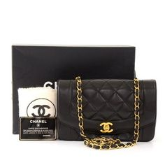 849c9a770be5 The Chanel Diana Clutch Classic Flap Vintage Lady Small Black Lambskin  Leather Cross Body Bag is a top 10 member favorite on Tradesy.