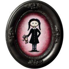 Acrylic painting 'Girl with Teddy'