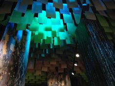 Custom drop ceiling and 'trees' at Karawatha Forest Discovery Centre (Focus Productions design & build)