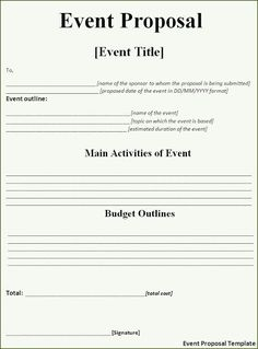 Corporate Event Proposal Example | Event Proposal Template | Pinterest