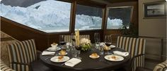 Navigation Upsala and Spegazzini Glaciers - El Calafate Day Tours, Table Settings, Windows, Santa Cruz, El Calafate, National Parks, Ice, Table Top Decorations, Place Settings