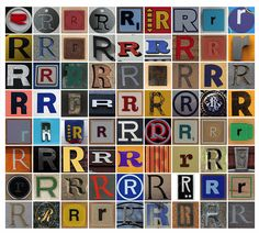 Typography ::: A Collection of the Letter R