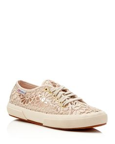 Superga Cotropew Crochet Lace Up Sneakers