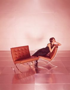 knoll ad for the barcelona chair. designed in1929 by mies van der rohe.