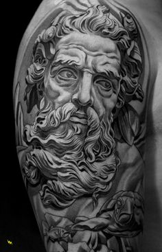 This is an amazing piece of art!  Not something I would get...but the work is stunning! Moses walking through the Red Sea. His hair & beard flow in the current.