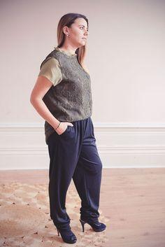 Calças com elástico na cintura