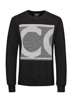 CORE by JACK & JONES - Sweatshirt von CORE - Regular fit - Rundhalsausschnitt - 3D-Aufdruck auf der Vorderseite - Bündchen und Saum sind gerippt - Innenseite mit Brush-Effekt - Das Modell trägt Größe L und ist 187 cm groß 100% Baumwolle...