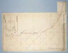 Kaart van de kustlijn vanaf Saldanhabaai tot Richardsbaai, met een detailkaart van Mosselbaai, attributed to Robert Jacob Gordon, c. 1777 - 1778 - Search - Rijksmuseum