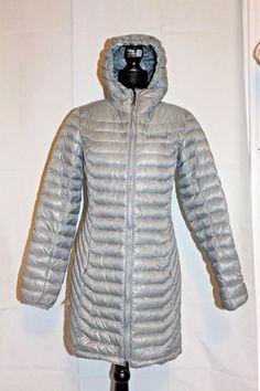 Marmot Women s Sonya Slim Fit Puffer Long Jacket Coat Gray S MSRP  275 NEW   Marmot 9efcd61aff9