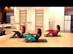 Barre Fitness | Amazing Abs Workout | Mat Core Workout - YouTube