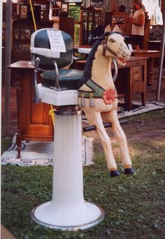 child's horse barber chair