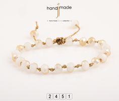 Χειροποίητο βραχιόλι ροζάριο με χρυσόκορδόνι. #handmade #jewelry #fashion