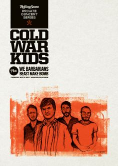 cold war kids  music gig posters | color, limited edition concert poster