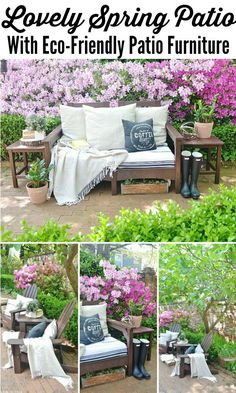 Spring patio with eco friendly furniture!