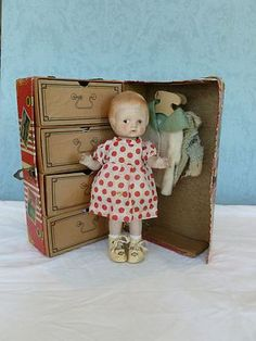 Vintage Patsy Doll with Trunk and Wardrobe #dolls