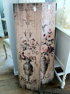 painted wood panels