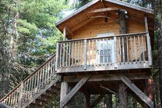 Dormir dans les arbres au Camping Miramichi | Famille au menu
