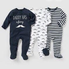 Pyjama coton interlock (lot de 3) 0 mois-3 ans