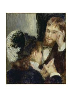 Conversation with the Gardener Giclee Print by Pierre Auguste Renoir at Art.com