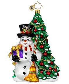 Christopher Radko Christmas Ornament, Fir & Frosty - Christopher Radko - Holiday Lane - Macy's