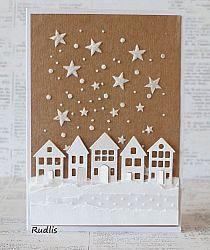 love, life and crafts Rudlis: Kraft+Biel - nowe wyzwanie Na strychu Christmas Cards 2017, Holiday Cards, Winter Cards, Holiday Gifts, Paper Cards, Diy Cards, Handmade Christmas, Christmas Diy, Christmas Wrapping